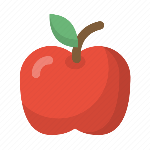 apple, food, fruit, organic, red, school, teacher icon