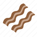bacon, breakfast, eggs, pork icon