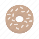 bagel, bread, breakfast, everything, snack, treat, wheat icon