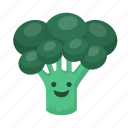 broccoli, greens, organic, vegetarian, veggie, veggie tales icon