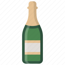 bottle, champagne, party icon