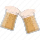 beer, brewery, cheers, glasses, mug, salute, sontay icon