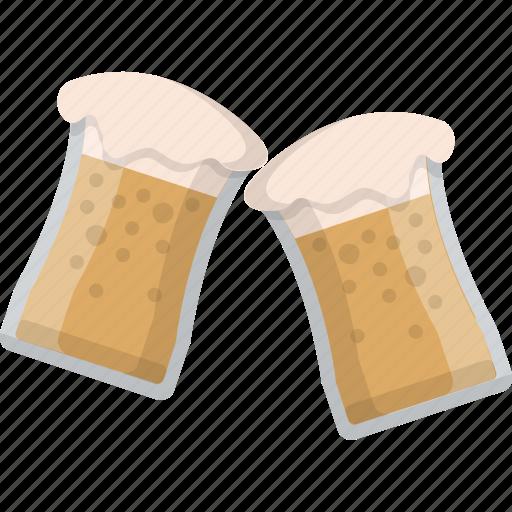 beer, brewery, cheers, glasses, mug, salute, sontay icon