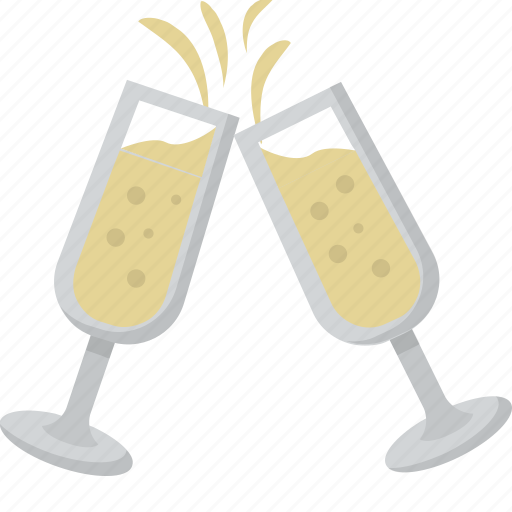 celebration, champagne, cheers, party, reception, toast, wedding icon