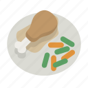 chicken, dinner, eat, food, meal, thanksgiving, turkey icon