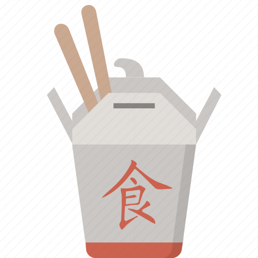 box, chinese, chopsticks, restaurant, takeout, to go icon