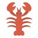 lobster, seafood icon