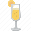 brunch, drink, glass, juice, mimosa, orange icon