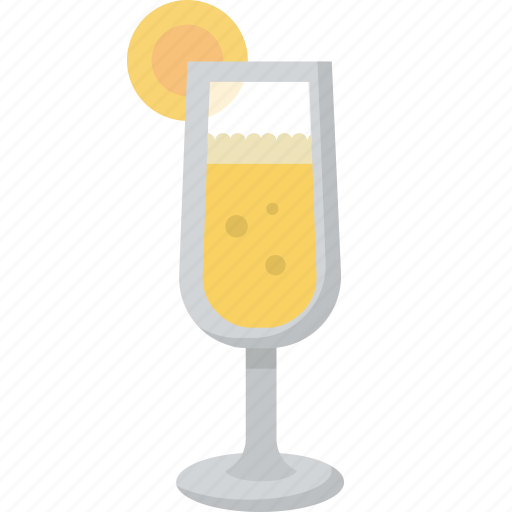 brunch, drink, glass, juice, mimosa, orange icon
