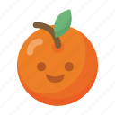 emoji, face, food, fruit, healthy, orange, organic icon