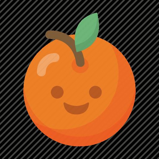 Emoji Face Food Fruit Healthy Orange Organic Icon