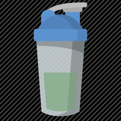 bodybuild, bodybuilder, protein, shake, shaker, supplements, workout icon