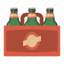 beer, bottle, case, craft, party, sixpack