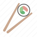 asian, chopsticks, cut, maki, roll, sashimi, sushi icon