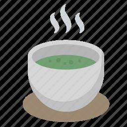 caffeine, cup, drink, green, matcha, tea, zen icon
