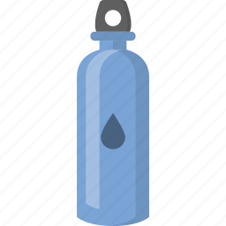 beverage, cantine, drink, hydrate, reusable, water, waterbottle icon