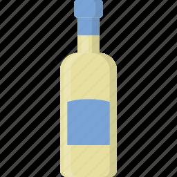 bottle, emoji, white, wine icon