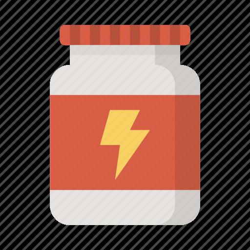 creatine, energy, powder, power, protein, supplement, workout icon