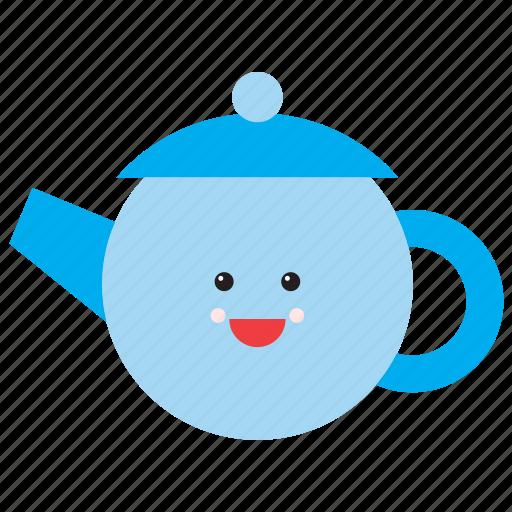 drink, emoji, emoticon, face, smiley, tea, teapot icon