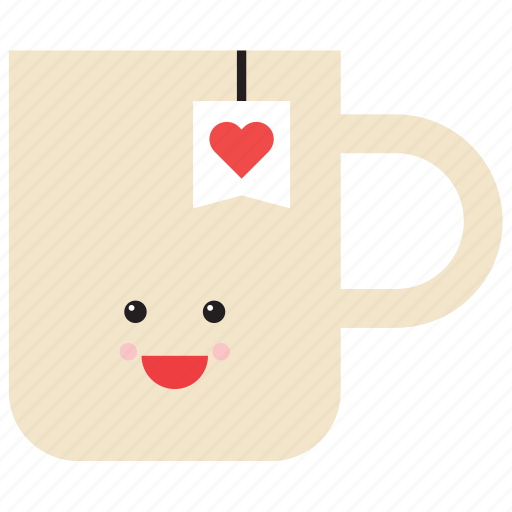 cup, emoji, emoticon, food, happy, smiley, tea icon