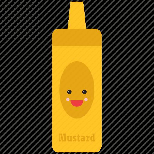 emoji, emoticon, face, food, happy, mustard, smiley icon
