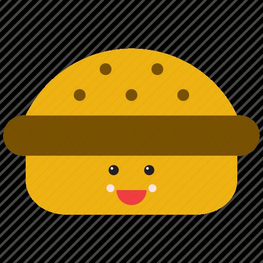 burguer, emoji, emoticon, food, hamburguer, sandwich, smiley icon