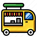 food, transportation, truck, vehicle icon