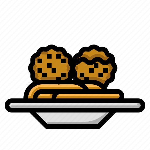 beef, food, meal, meat, meatball icon