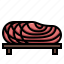 fish, food, salmon, seafood, slice icon