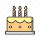 bakery, birthday, cake, celebration, cream, food, party icon