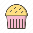 bakery, cake, cupcake, food, muffin, sweet icon