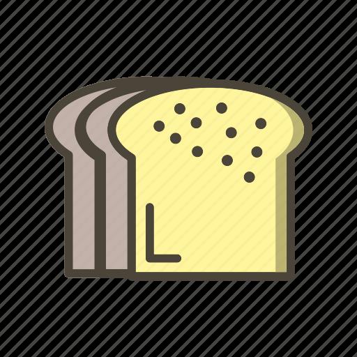 bread, breakfast, slice icon