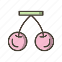 cherry, food, fruit icon