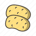 food, potato, potatoes, vegetable icon