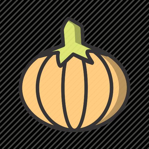 healthy, pumpkin, vegetable icon