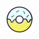 donut, donuts, filled, food icon