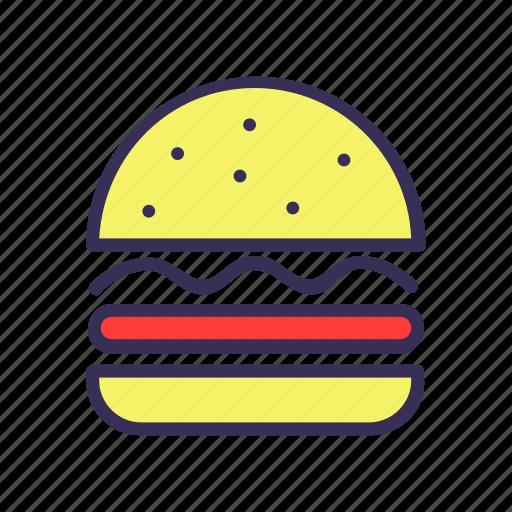 burger, filled, food, hamburger icon