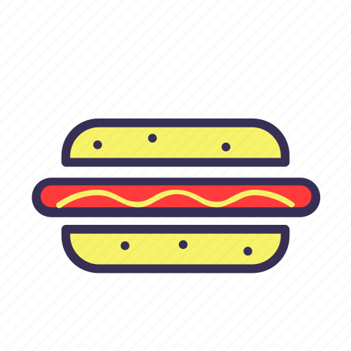 filled, food, hot dog, hotdog icon