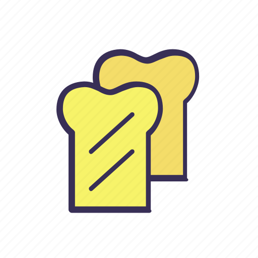 bread, filled, food icon