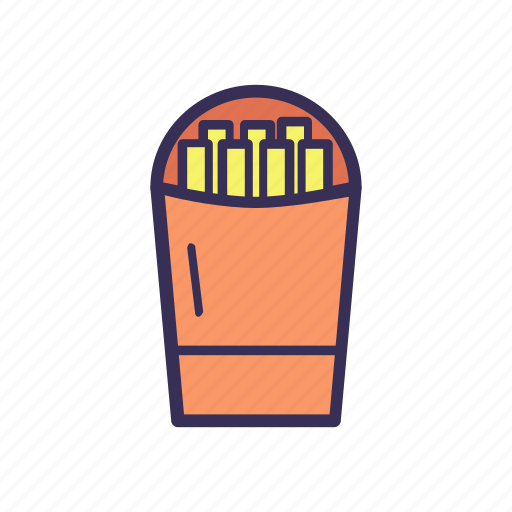 filled, food, fries icon