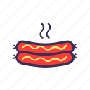 filled, food, sausage icon