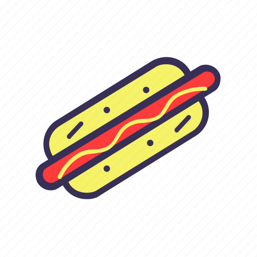 filled, food, hot dog icon