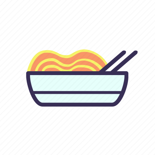 filled, food, noodles icon
