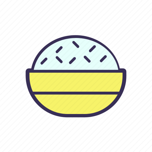 filled, food, rice icon