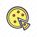 filled, food, pizza icon