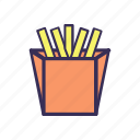 filled, food, french fries, fries icon