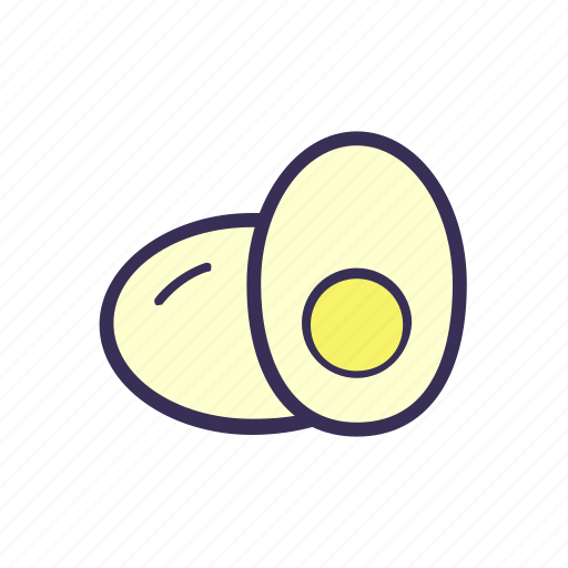 egg, filled, food icon