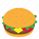 burger, food, hamburger icon