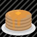 cake, dessert, meal, pancake, sweet icon