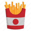 dessert, food, french fries, meal, restaurant icon